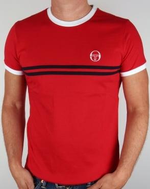 Sergio Tacchini Super Mac T-shirt Red/White
