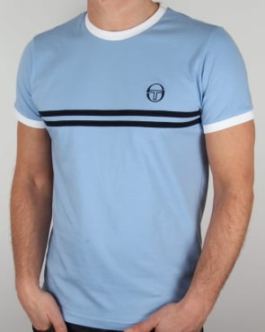 Sergio Tacchini Super Mac T-shirt Sky Blue/White