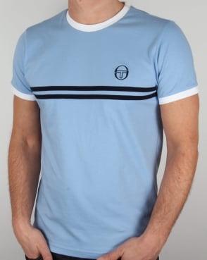 Sergio Tacchini Super Mac T-shirt Sky Blue/White