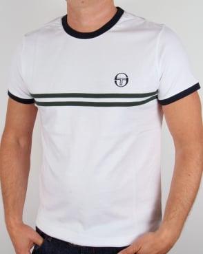 Sergio Tacchini Super Mac T-shirt White/Navy/Green