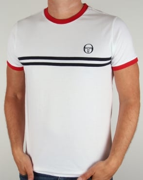 Sergio Tacchini Super Mac T-shirt White/Navy/Red