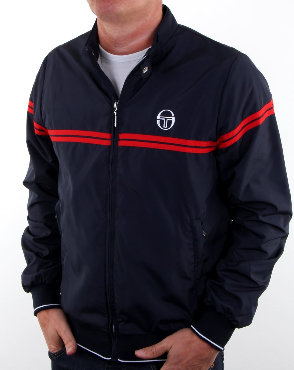 sergio tacchini supermac track top navy red men 39 s top. Black Bedroom Furniture Sets. Home Design Ideas