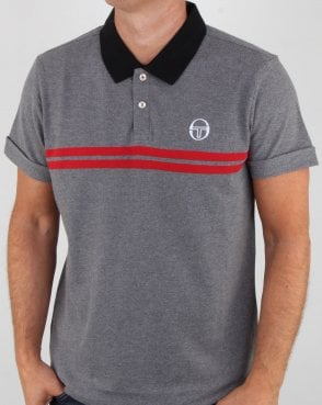 Sergio Tacchini Supermac Polo Shirt Grey Melange