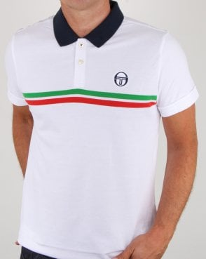 Sergio Tacchini Supermac Polo Shirt White/green/red