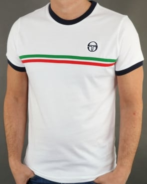 Sergio Tacchini Supermac T-shirt White/Green/Red