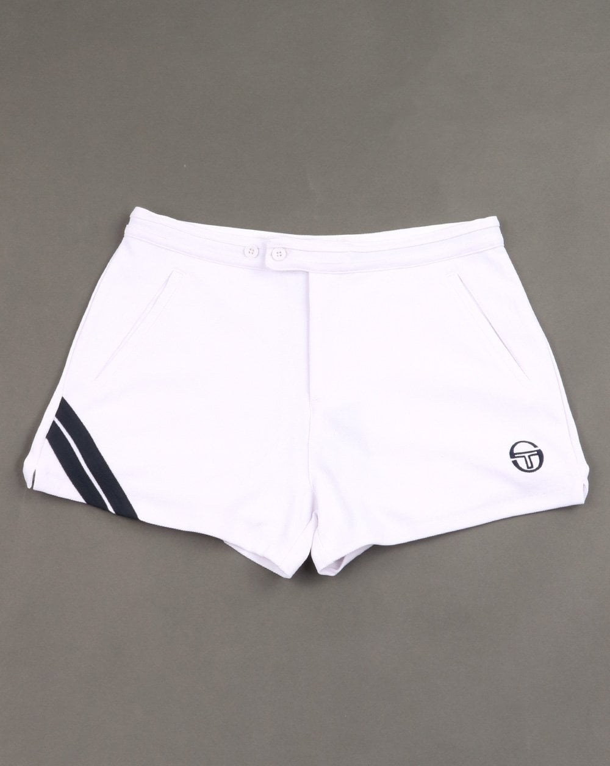 5c35637e59c55 Sergio Tacchini Time Shorts White/Navy | 80s Casual Classics