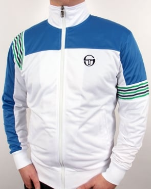 Sergio Tacchini Wilander Track Top White/royal Blue