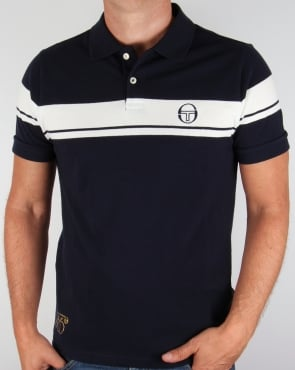 Sergio Tacchini Young Line 50th Anniversary Polo Shirt Navy/Ivory