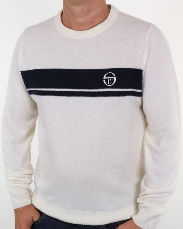 Sergio Tacchini Young Line Jumper Ivory/navy