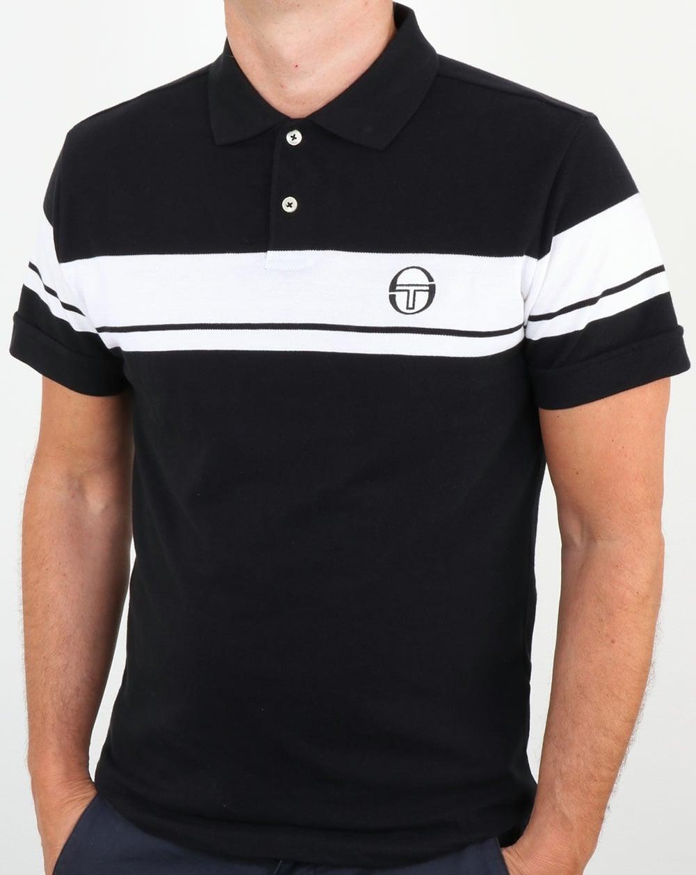 7016f8725 Sergio Tacchini Sergio Tacchini Young Line Polo Shirt Black/White