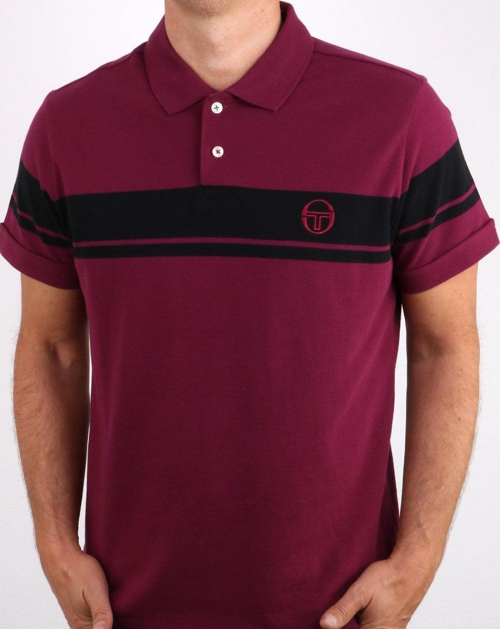 f5495365 Sergio Tacchini Sergio Tacchini Young Line Polo Shirt Dark Purple/Black