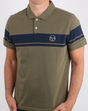 Sergio Tacchini Young Line Polo Shirt Olive/navy