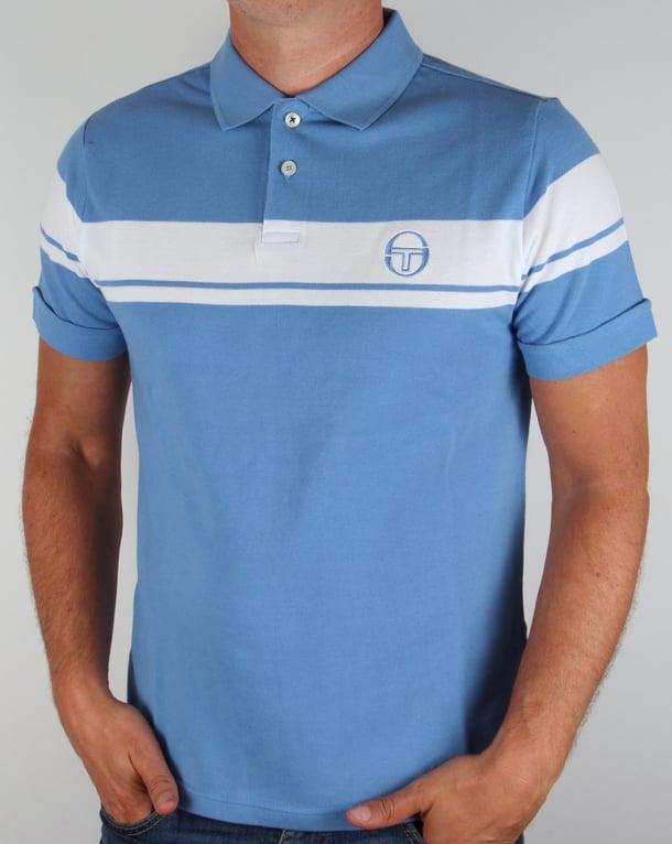 Sergio Tacchini Young Line Polo Shirt Sky Blue/White