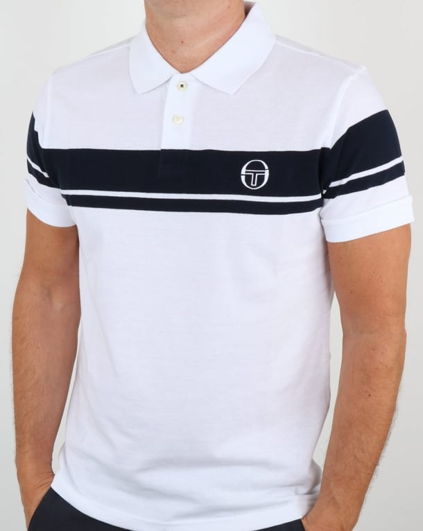 Sergio Tacchini Young Line Polo Shirt White/Navy