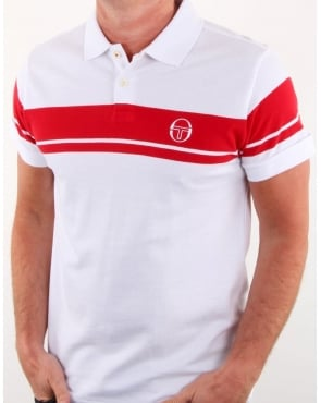 Sergio Tacchini Young Line Polo Shirt White/Red