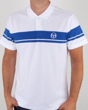 Sergio Tacchini Young Line Polo Shirt White/Royal