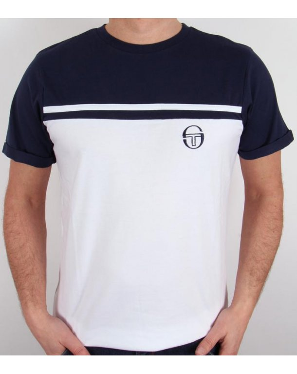 sergio tacchini young line t shirt white navy young line. Black Bedroom Furniture Sets. Home Design Ideas