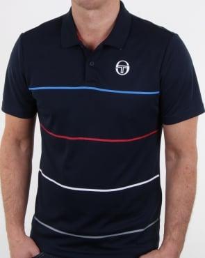 Sergio Tacchini Zakar Polo Shirt Navy