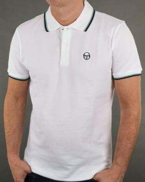 Sergio Tacchini Zuck Tipped Polo Shirt White