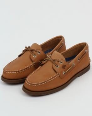 Sperry Authentic Original 2 Eye Boat Shoes Sahara Tan 9adeceb18396