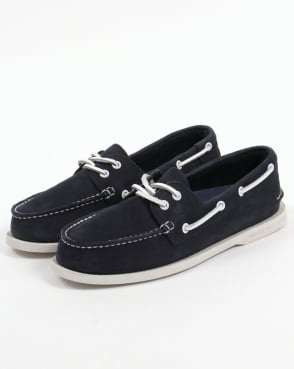 Sperry Authentic Original 2 Eye Washable Boat Shoe Navy