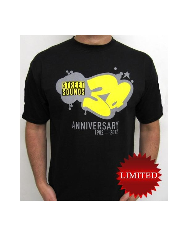 Street Sounds 30th Anniversary T-shirt Black