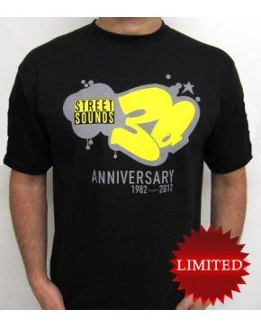 Street Sounds 30th Anniversary T-shirt Black