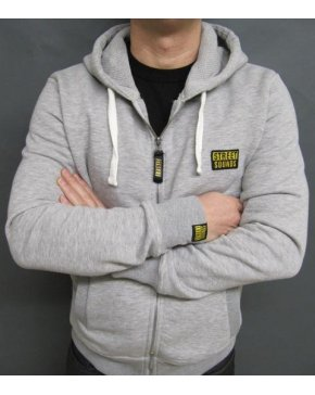 Street Sounds Zip Through Hoodie Grey