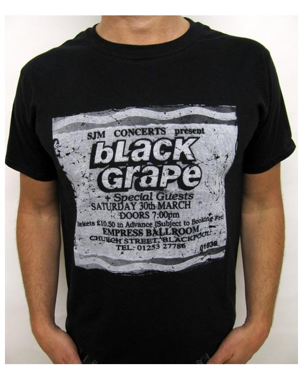 Stub Clothing Black Grape Poster T-shirt Black