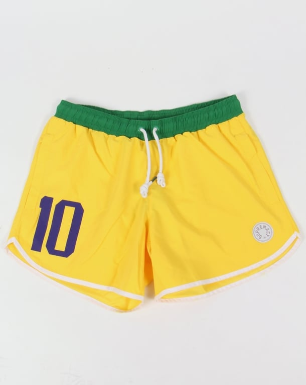 Supremacy Brasil Swim Shorts Yellow/green