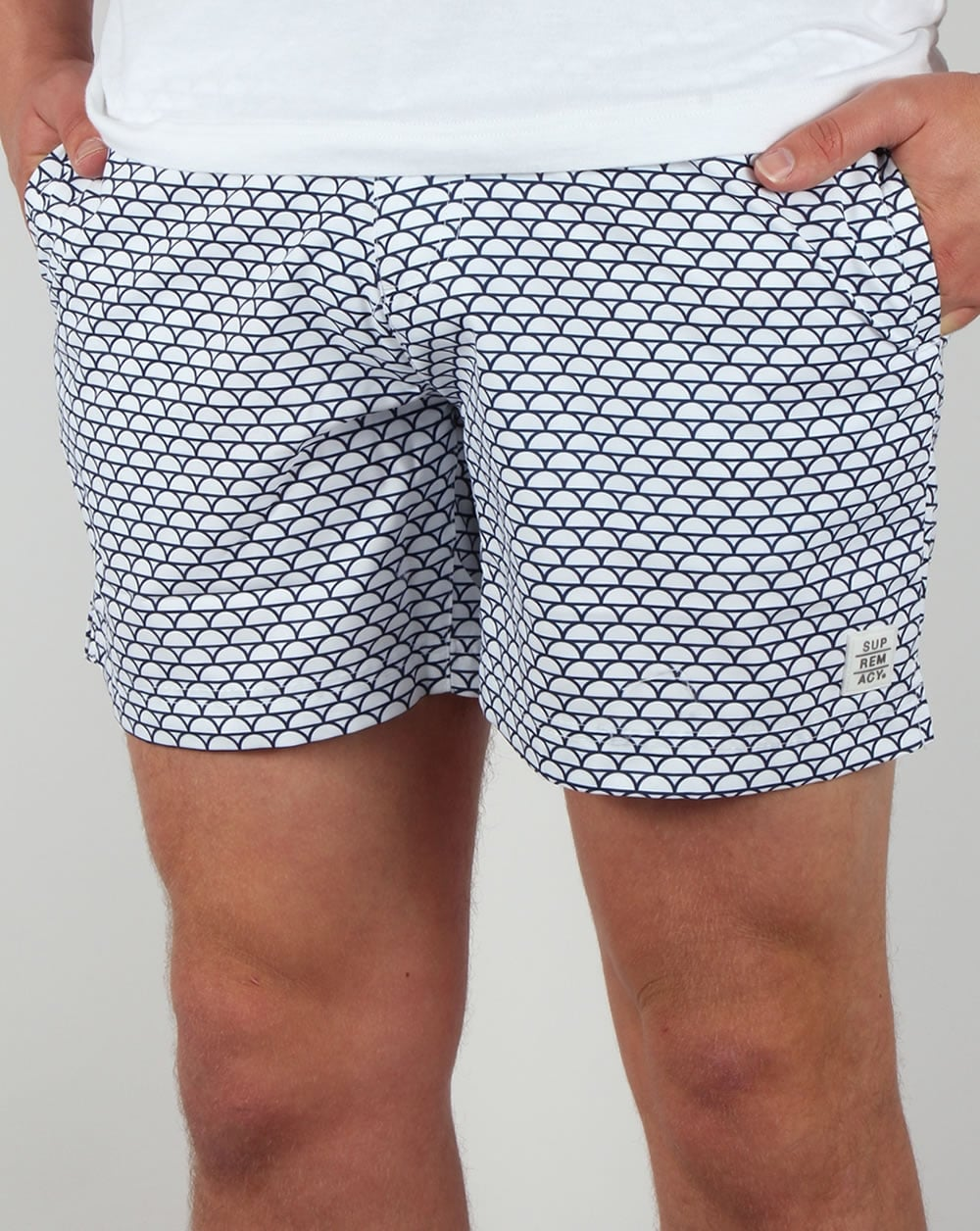 a28bd825d4 Supremacy Reef Tailored Swim Shorts White,beach,swimmers,pool,mens
