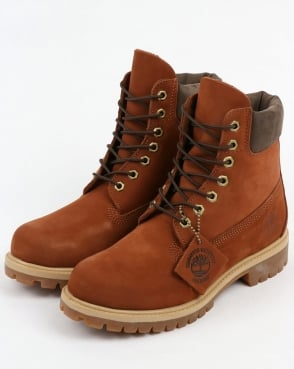 Timberland 6 Inch Premium Boots Dark Tan