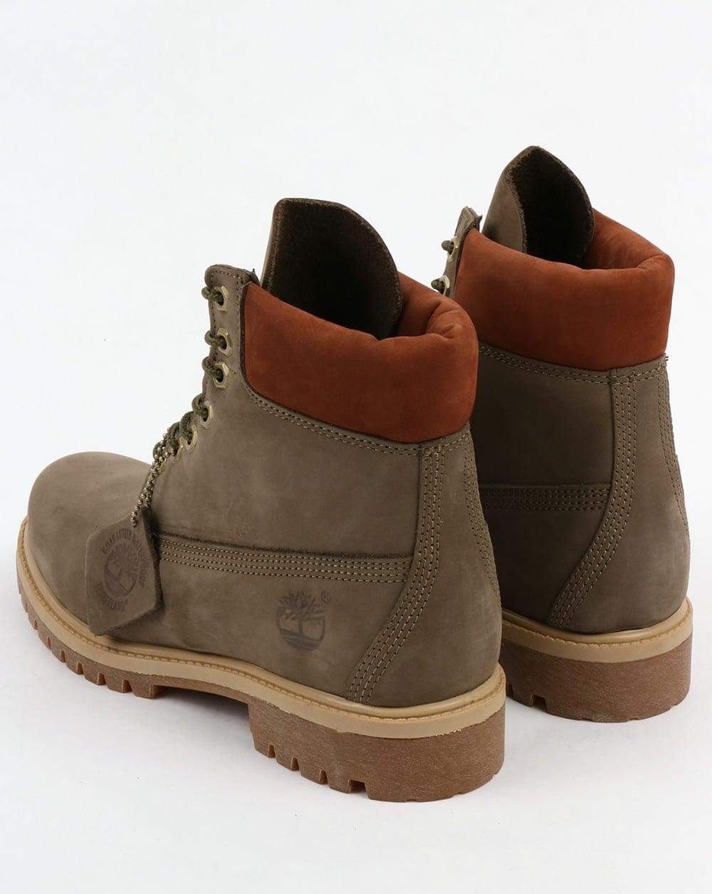 timberland 6 inch premium boots grey mens leather nubuck. Black Bedroom Furniture Sets. Home Design Ideas