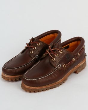 Timberland Authentics 3 Eye Classic Brown Shoes