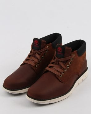 Timberland Bradstreet Chukka Leather Shoes Red Brown