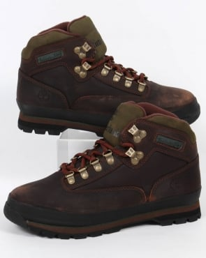 Timberland Euro Hiker Leather Boots Brown Smooth