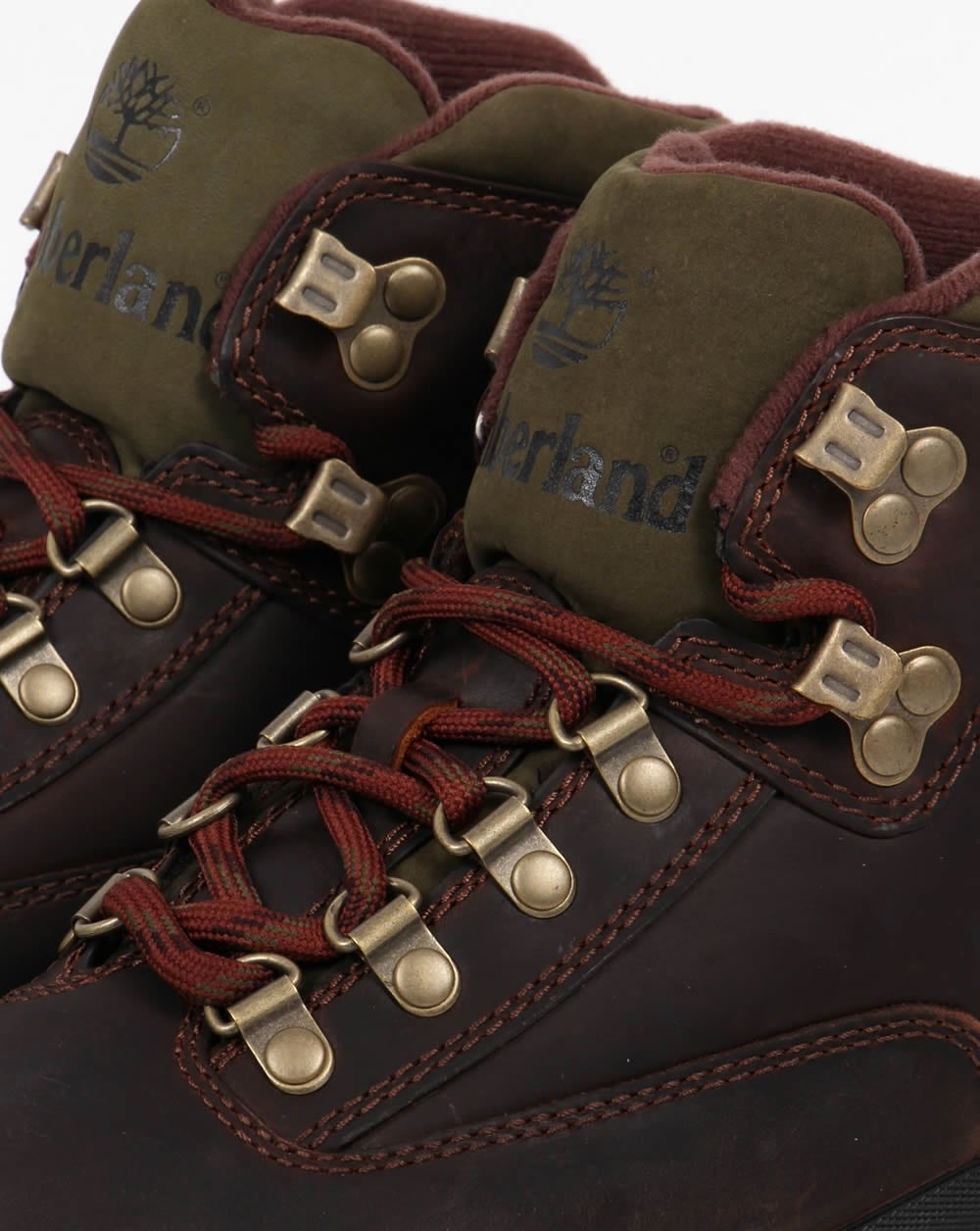 bottes timberland euro leather hiker marron