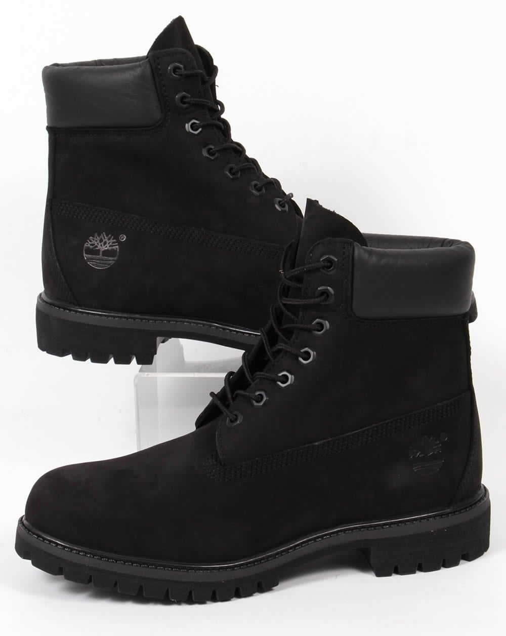 timberland icon 6 inch premium boots black nubuck men 39 s. Black Bedroom Furniture Sets. Home Design Ideas