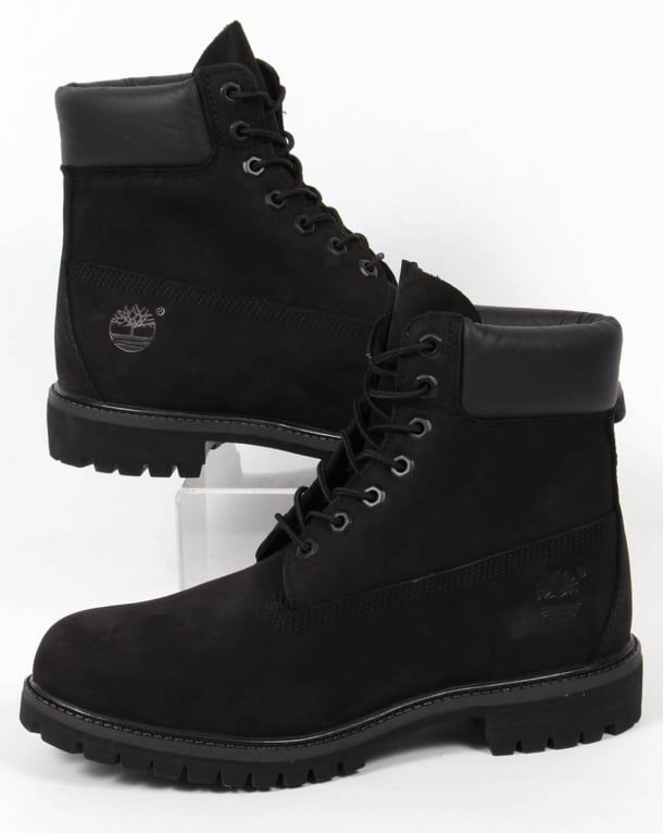 b6c9dbf01bc7 Timberland Icon 6 Inch Premium Boots Black Nubuck