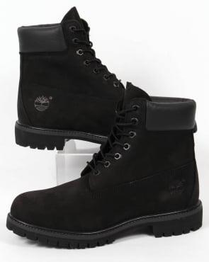 Timberland Icon 6 Inch Premium Boots Black Nubuck