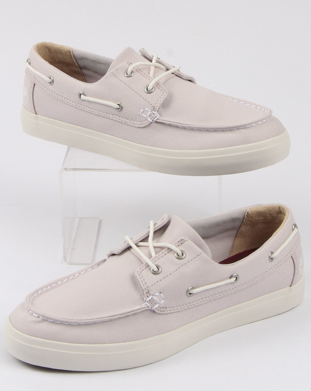 Derivación acumular caja de cartón  Timberland Union Wharf 2 Eye Boat Shoe Light Grey - 80s casual classics