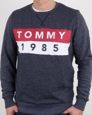 Tommy Jeans Tommy Hilfiger 1985 Logo Sweatshirt Navy