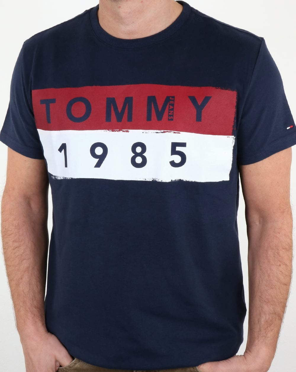af653936 Tommy Hilfiger 1985 Logo T Shirt Navy,tee,cotton,crew neck,mens