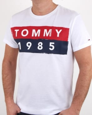 Tommy Jeans Tommy Hilfiger 1985 Logo T Shirt White