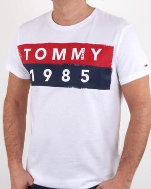 Tommy Jeans Tommy Hilfiger 1985 Logo T Shirt White
