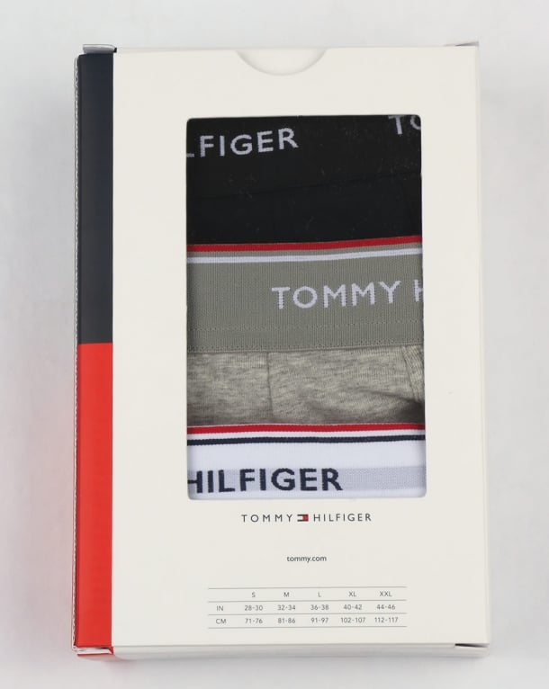 Tommy Hilfiger 3 Pack Boxer Shorts Black/White/Grey