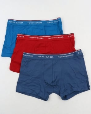 Tommy Hilfiger Jeans Tommy Hilfiger 3 Pack Boxer Shorts Navy/Blue/Red