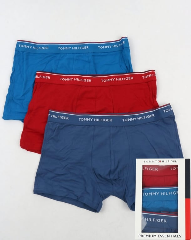 Tommy Hilfiger 3 Pack Boxer Shorts Navy/Blue/Red