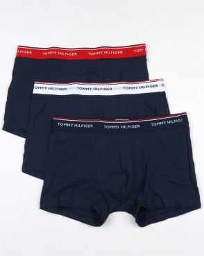 Tommy Hilfiger 3 Pack Boxer Shorts Navy/Multi