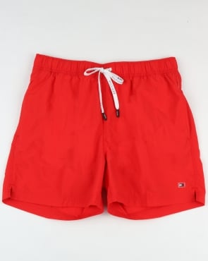 Tommy Jeans Tommy Hilfiger Basic Swim Short Flame Red